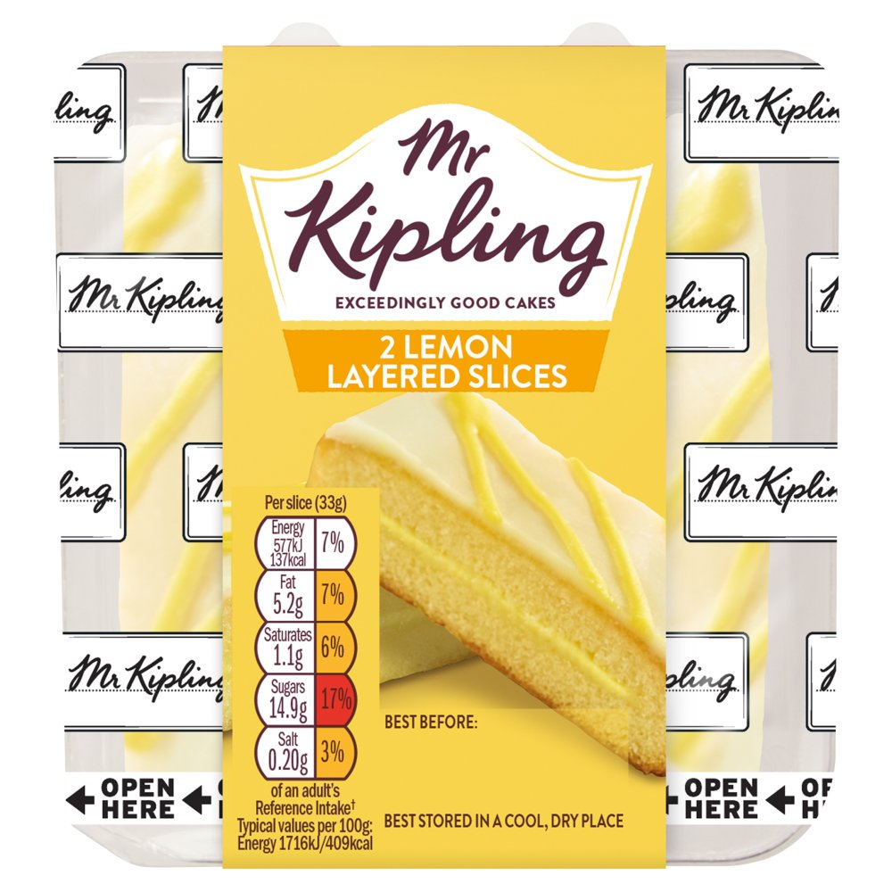 Mr Kipling 2 Lemon Slices