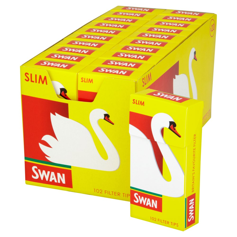 Swan Pre Cut Filter Tips Slim 20 x 102
