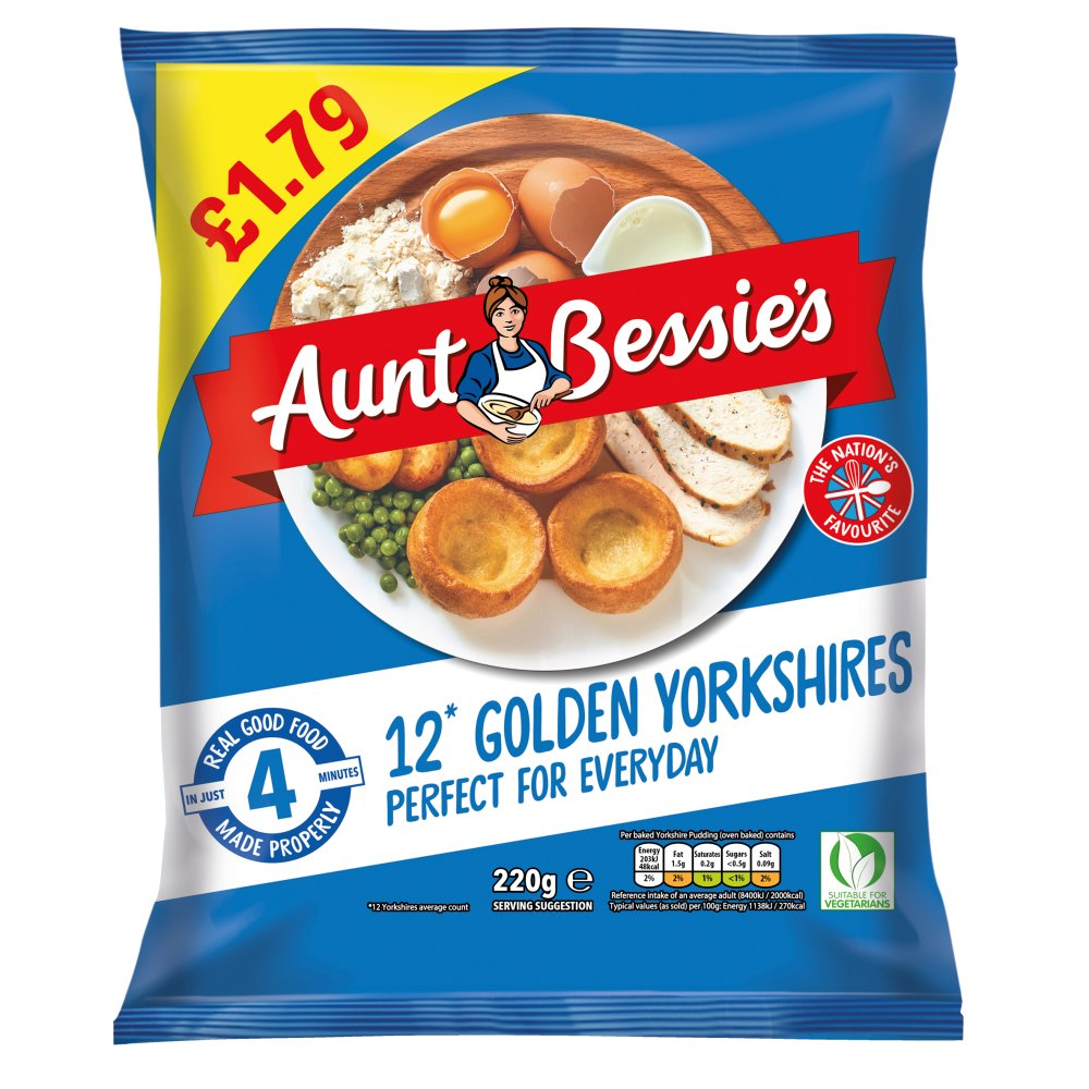 Aunt Bessie's 12 Yorkshire Puddings 220g