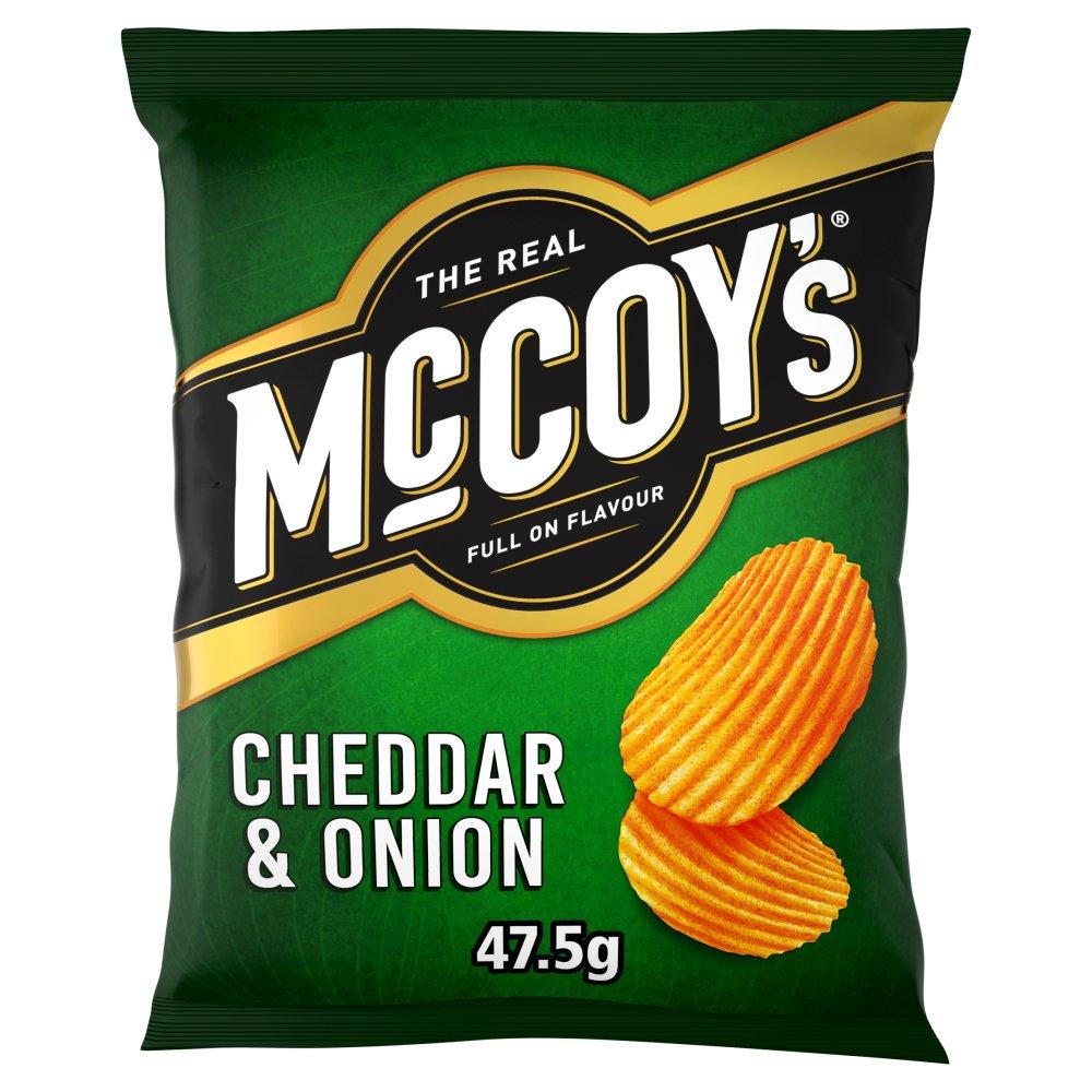 McCoy's Cheddar & Onion Flavour Crisps 47.5g