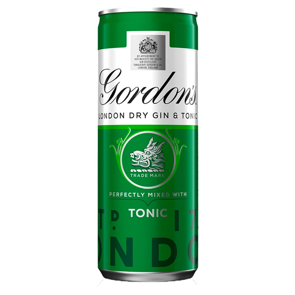 Gordon's London Dry Gin and Tonic 250ml