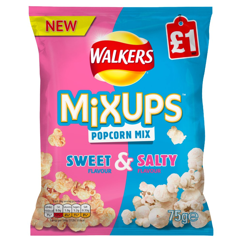 Walkers Mix Ups Sweet & Salty Popcorn PMP £1