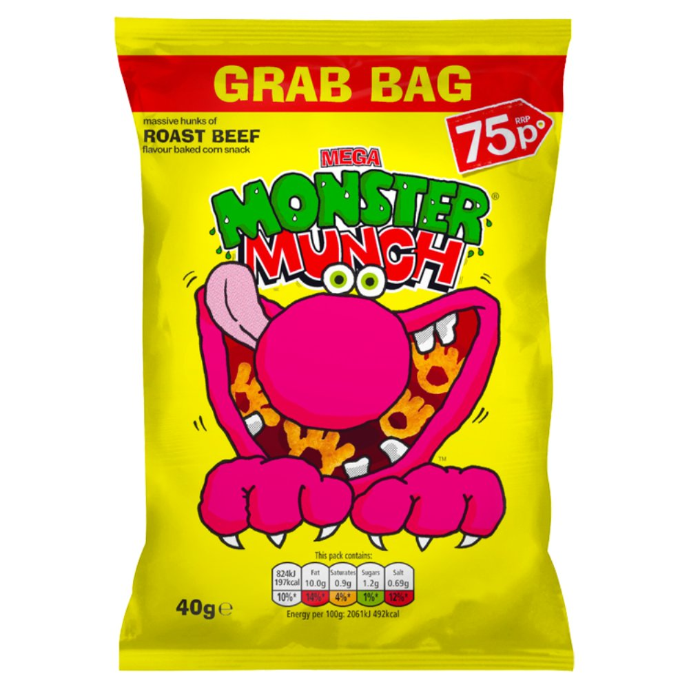 Monster Munch Roast Beef 75p