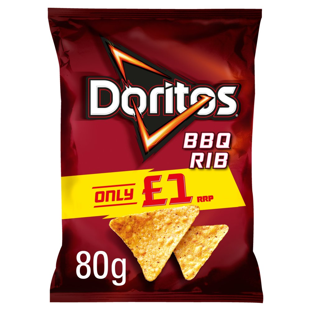 Doritos BBQ Rib Tortilla Chips PMP 80g