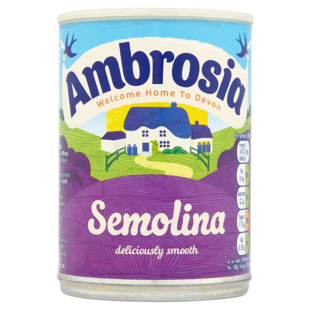 Ambrosia Semolina Dessert Can 400g
