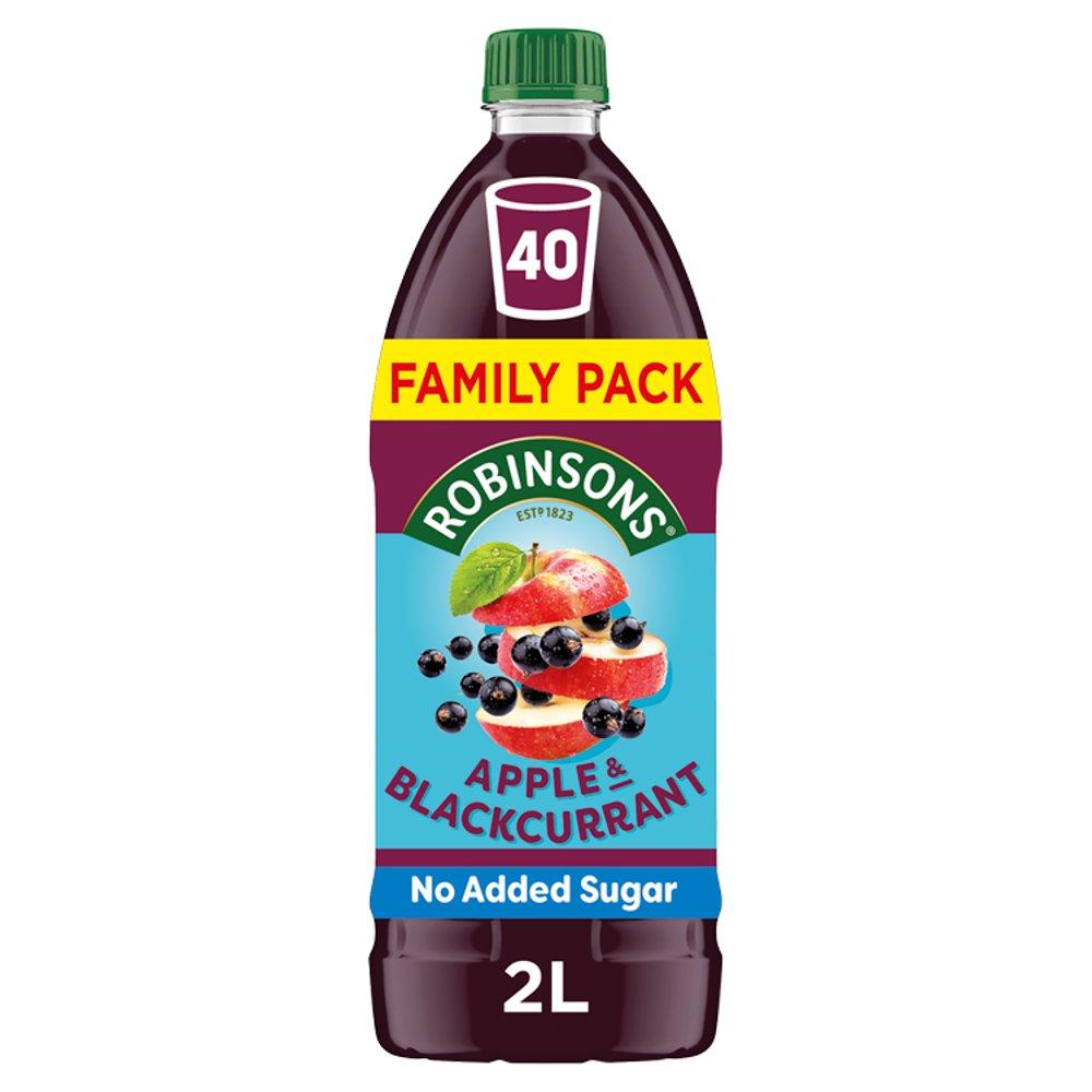Robinsons Apple & Blackcurrant No Added Sugar Squash 2L