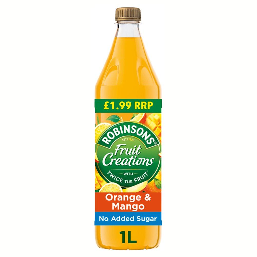 Robinsons Fruit Creations Orange & Mango Squash PMP 6 x 1L