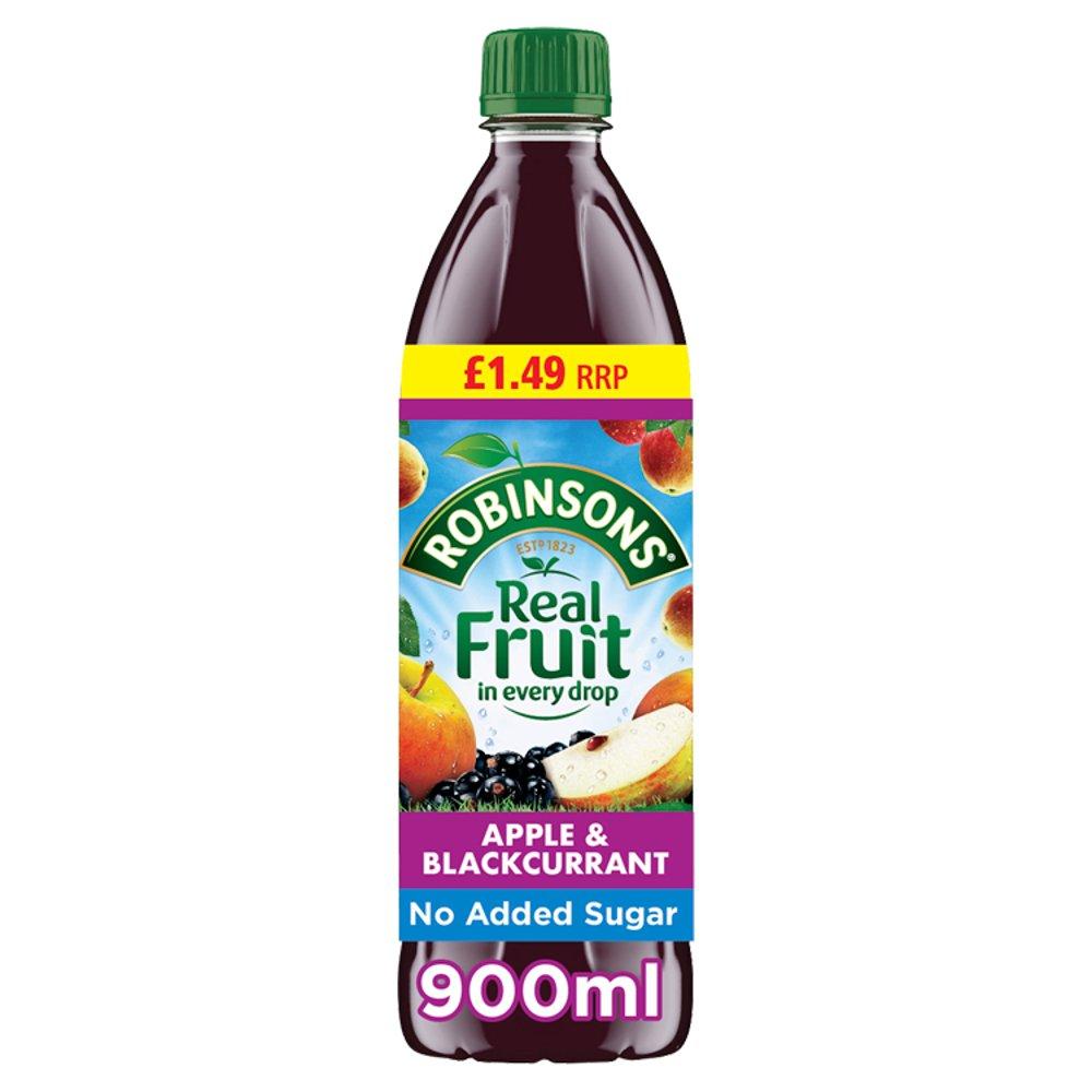 Robinsons Apple & Blackcurrant No Added Sugar Squash PMP 12 x 900ml