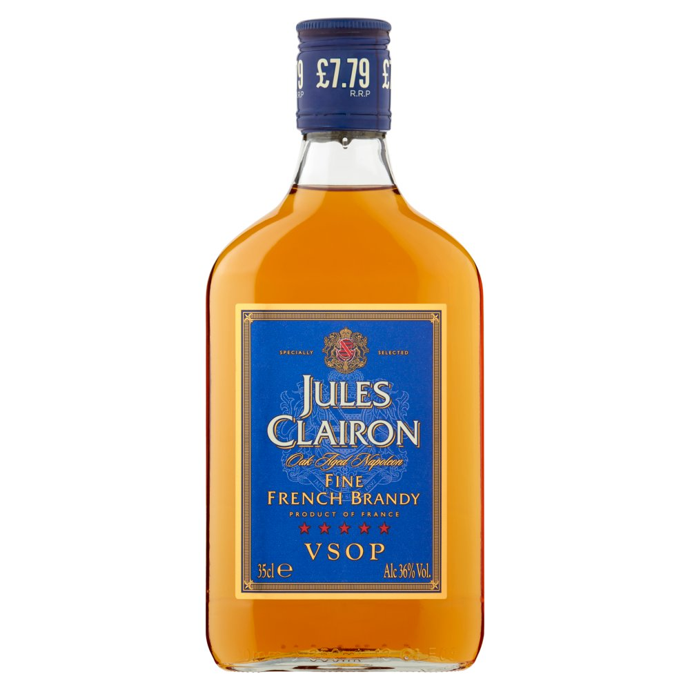 Jules Clairon Oak Aged Napoleon Fine French Brandy 35cl PMP £7.79