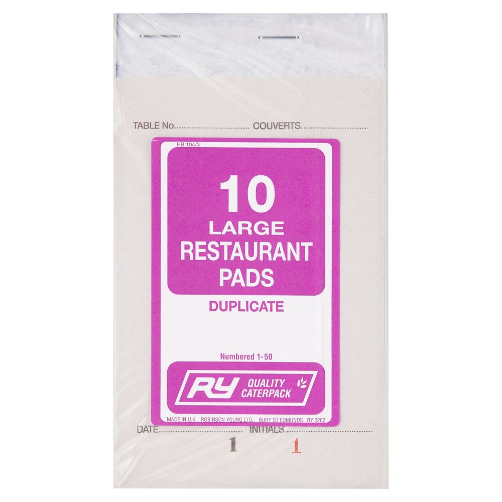 Caterpack Large Duplicate Restaurant Pads