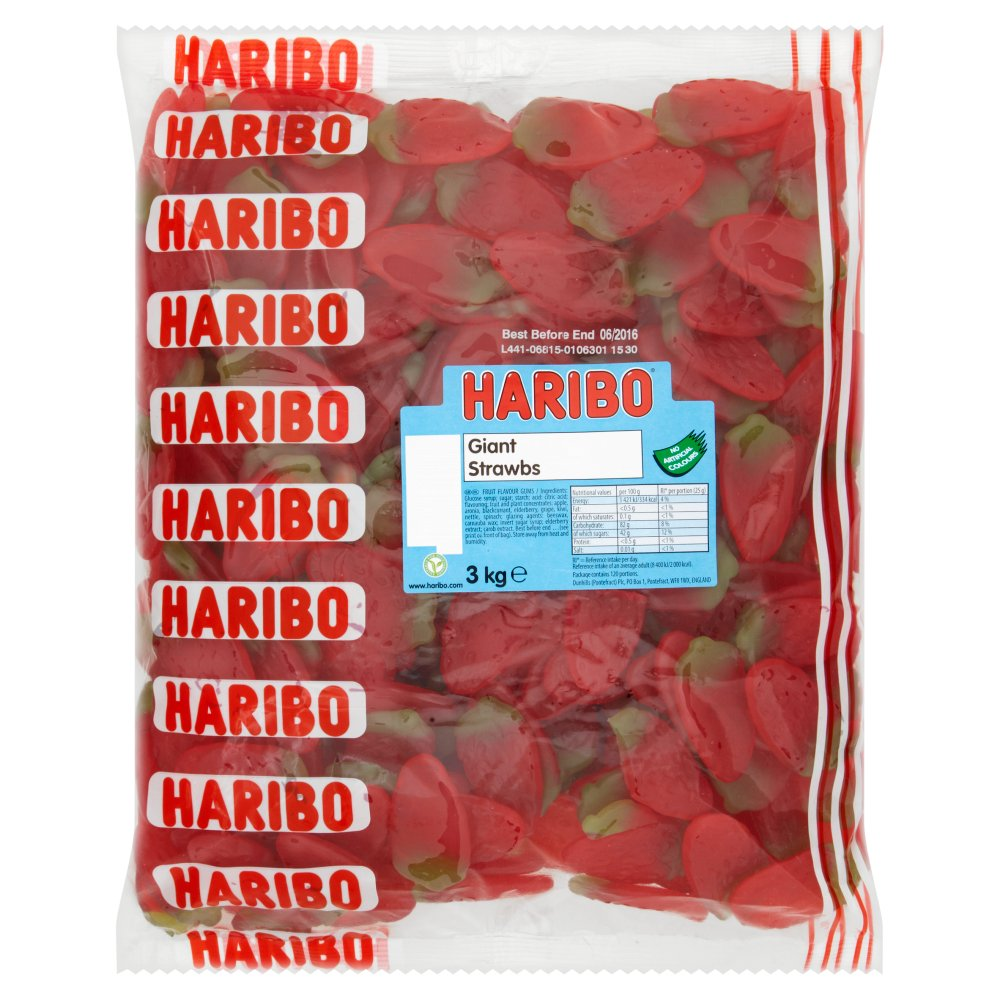 Haribo Giant Strawberry 3Kg