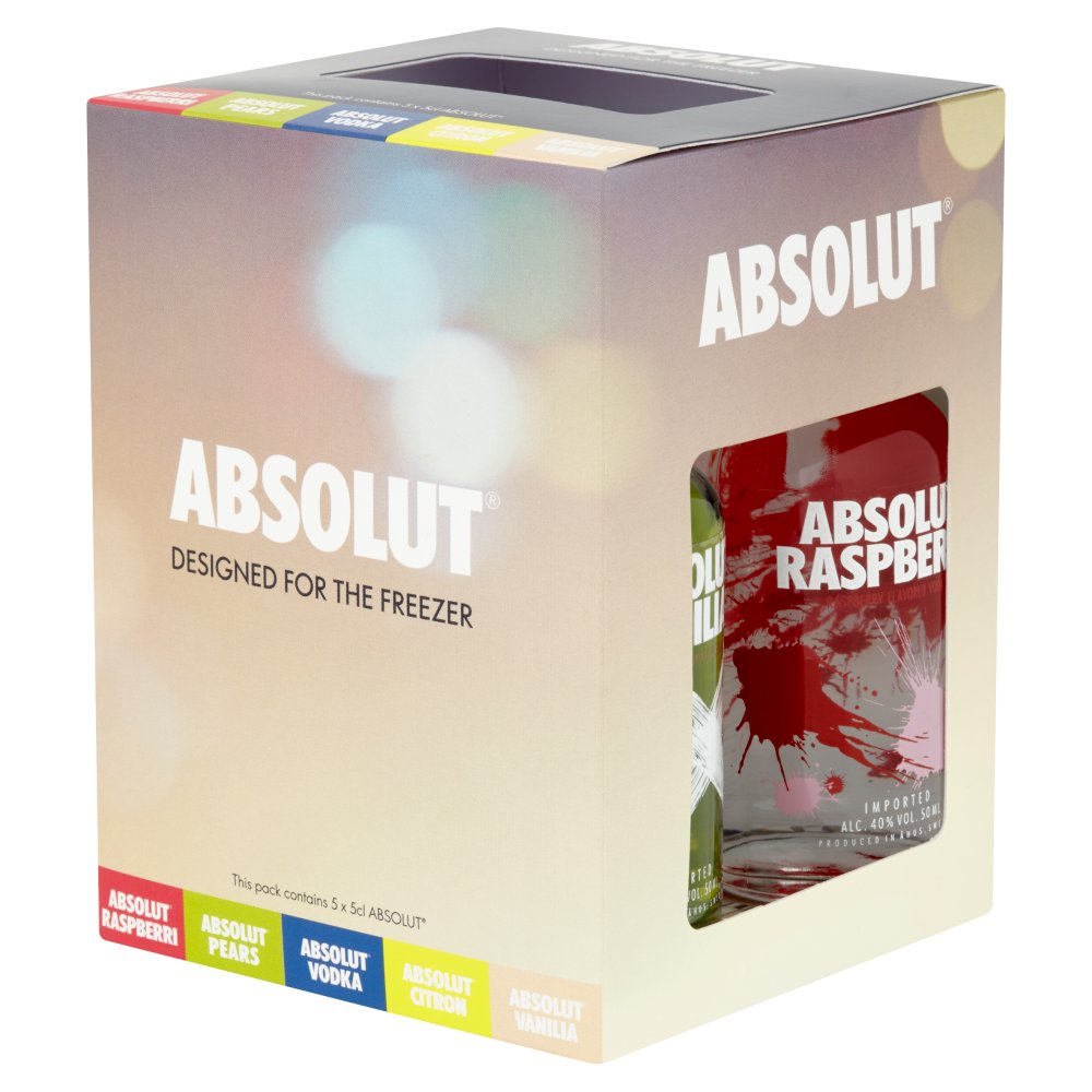 Absolut Chilled to Perfection Vodka Miniatures Gift Set 5 x 5cl