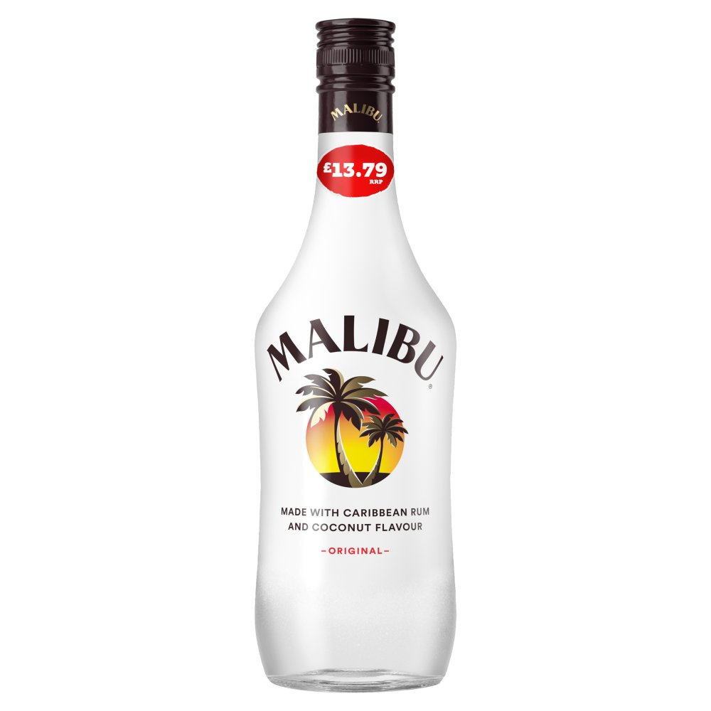 Malibu Original White Rum with Coconut Flavour 70cl