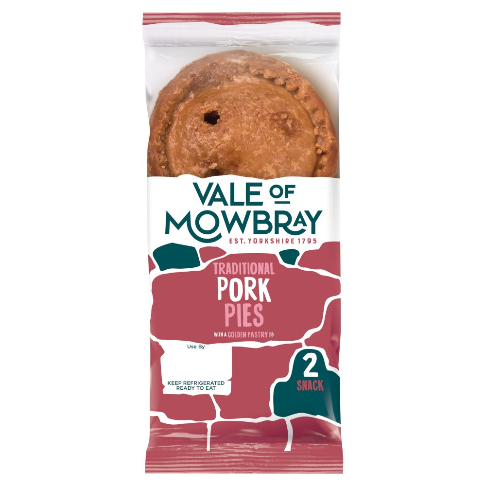 Vale Of Mowbray Snack Pork Pies PM £1