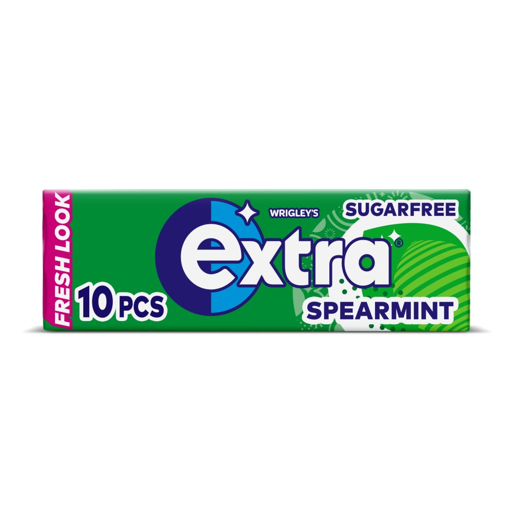 Extra Spearmint Chewing Gum Sugar Free 10 Pieces
