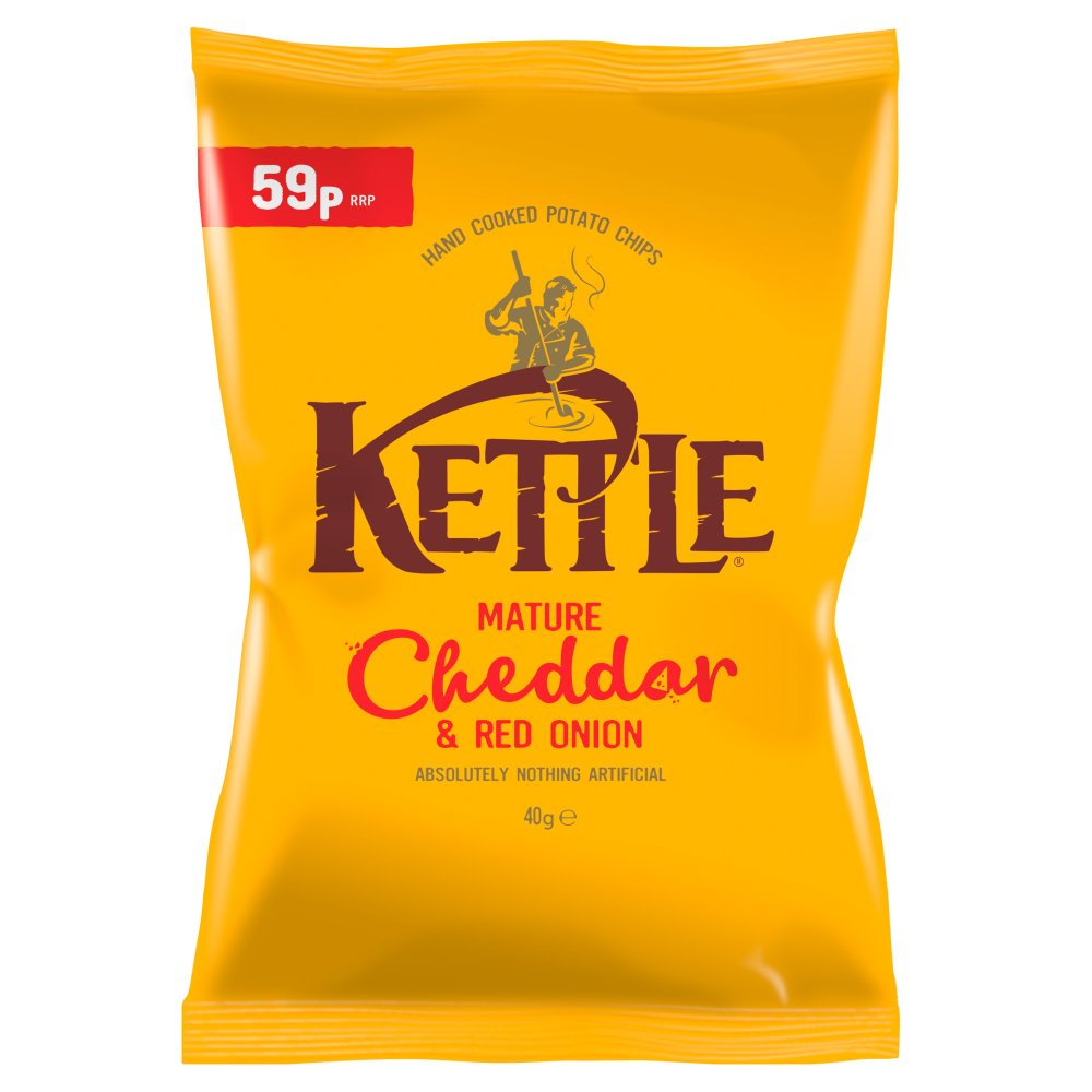 Kettle Chips Mature Cheddar PM 59p