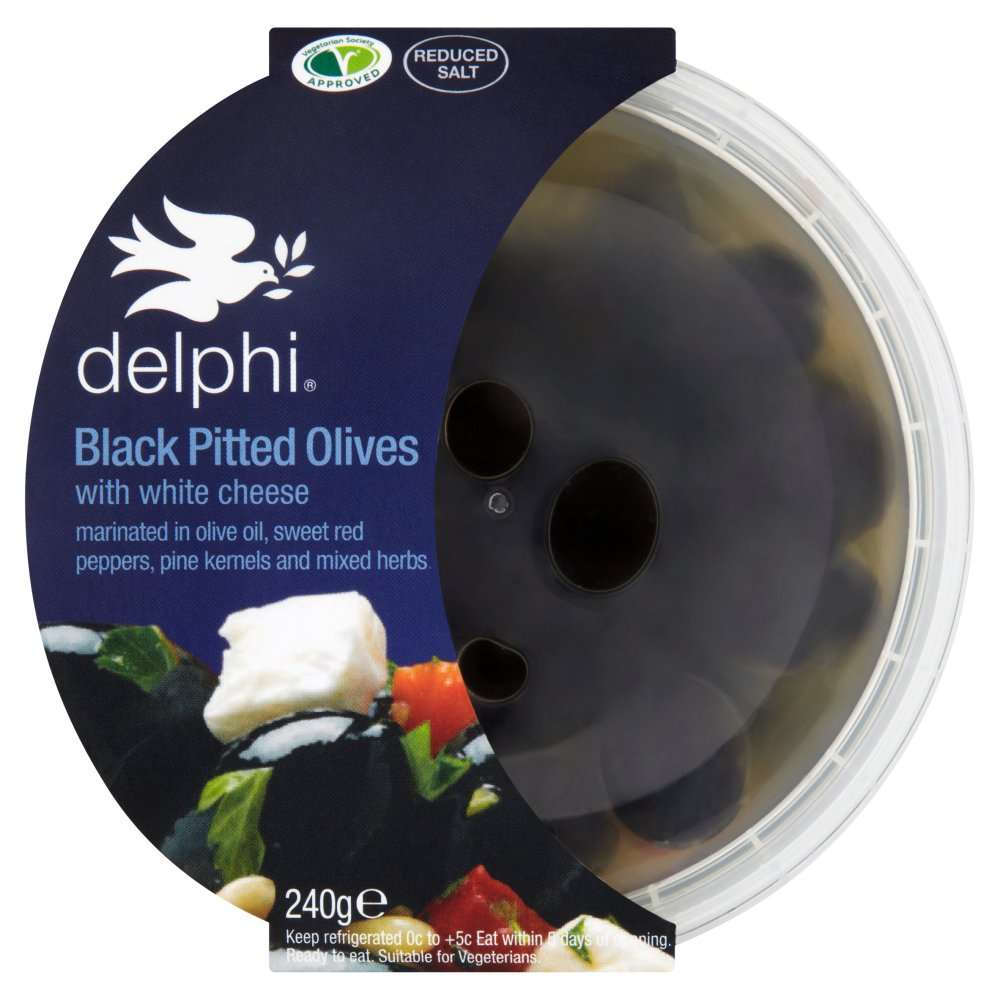 Delphi Green Pitted Olives with White Cheese 240g