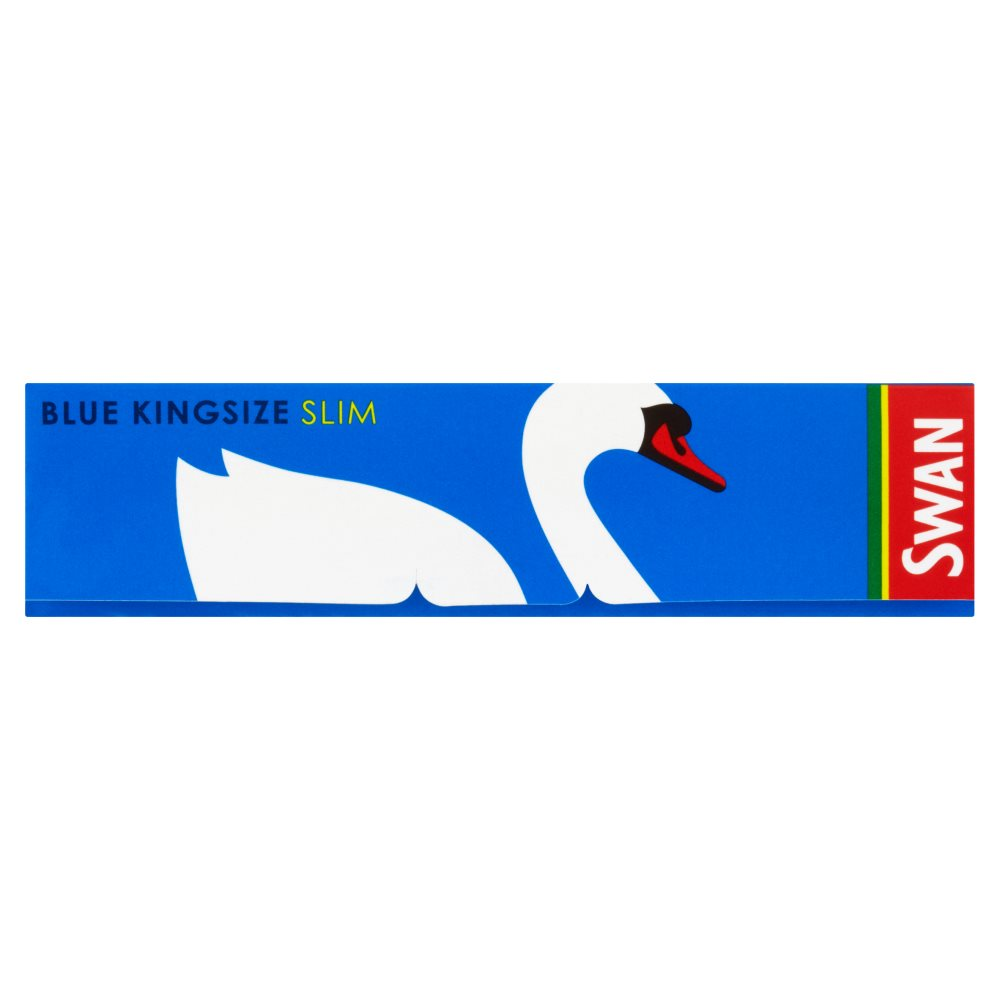 Swan Papers King Size Blue Slim
