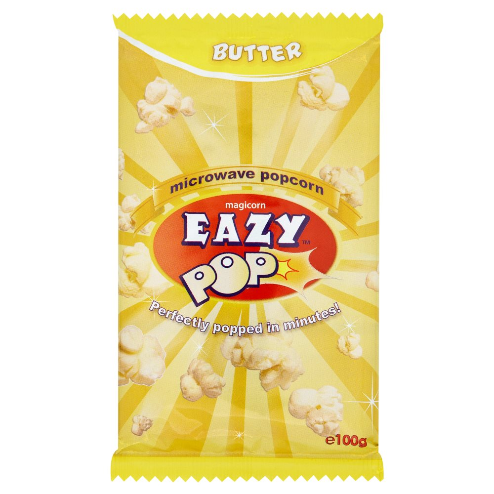 Eazypop Microwave Popcorn Butter 100g