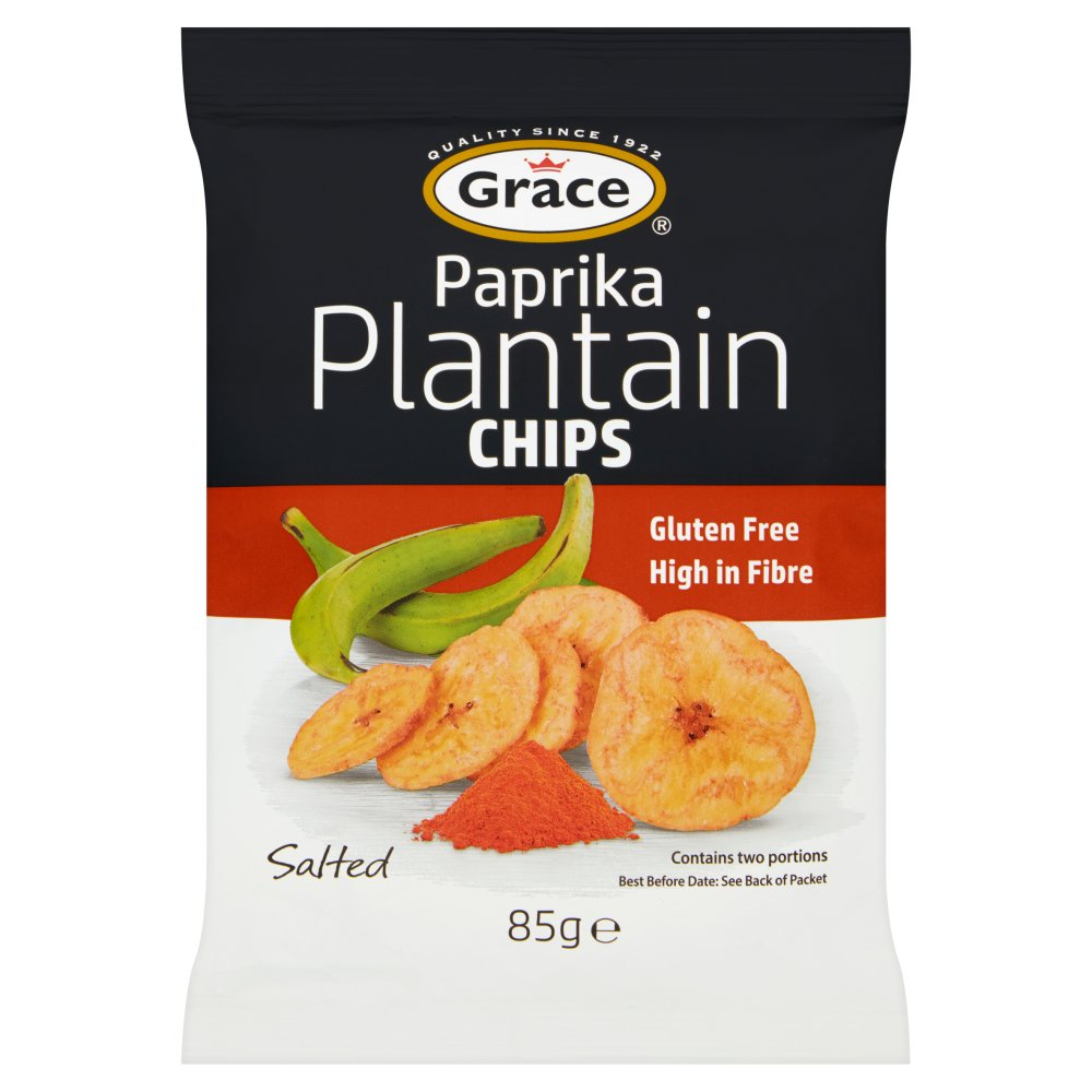 Grace Paprika Plantain Chips 85g