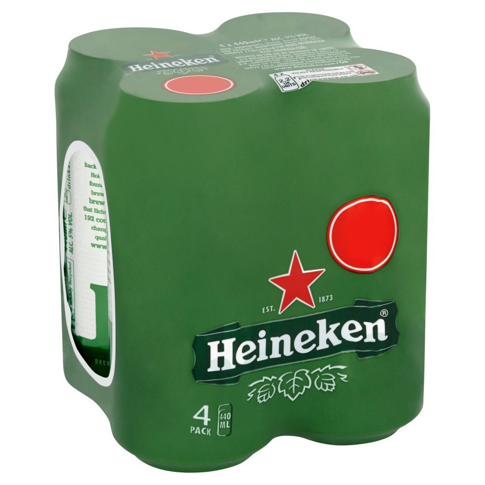 Heineken Lager Beer 4 x 440ml £5 PMP Cans