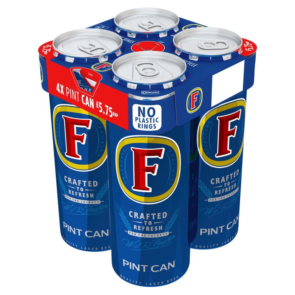 Foster's Lager Beer 4 x 568ml Cans