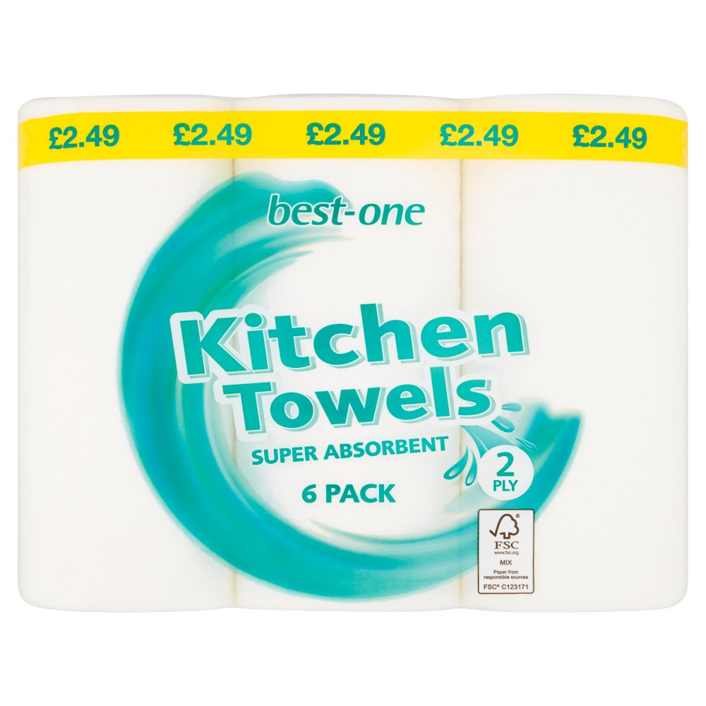 Best-One Kitchen Towel 2 Ply 6 Rolls