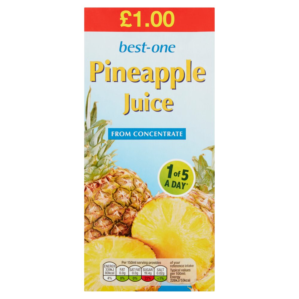 Best-One Pineapple Juice from Concentrate 1 Litre