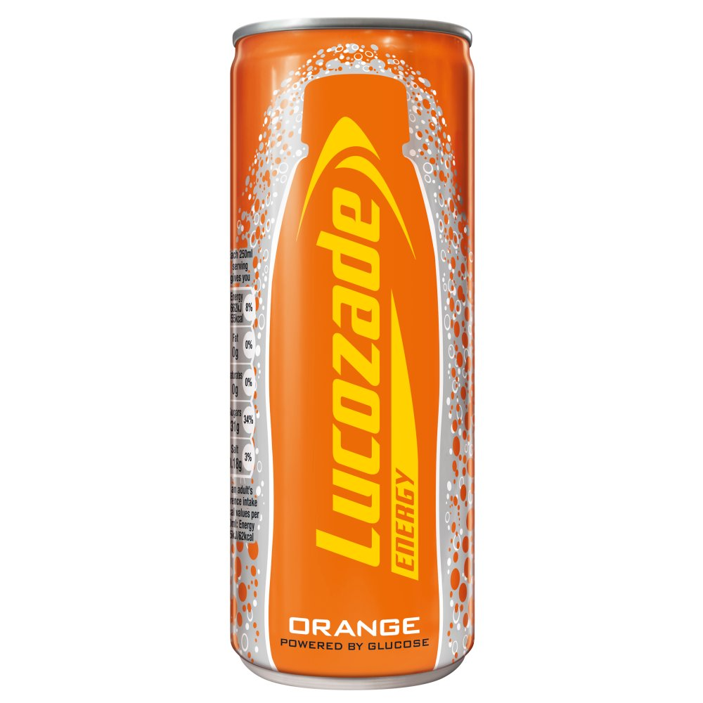 Lucozade Energy Orange Can