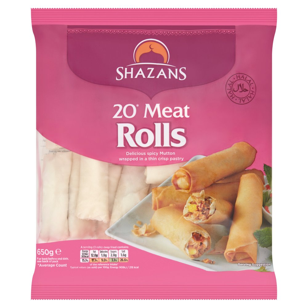 Shazans 20 Meat Rolls 650g