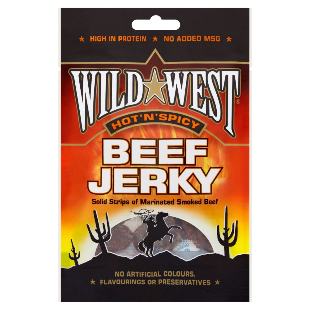 Wild West Hot & Spicy Jerky Pub Card