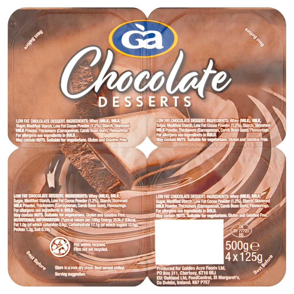 Golden Acre Chocolate Dessert 4pack
