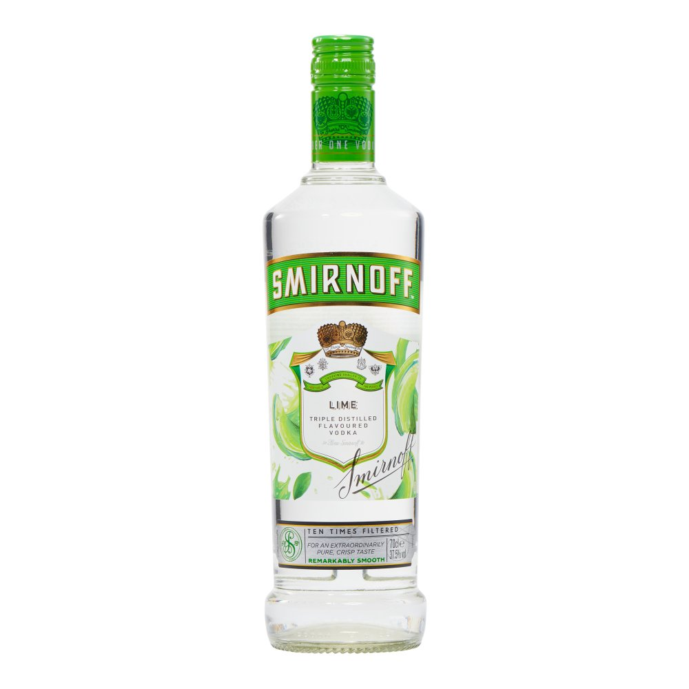 Smirnoff Premium Lime Flavoured Vodka 70cl