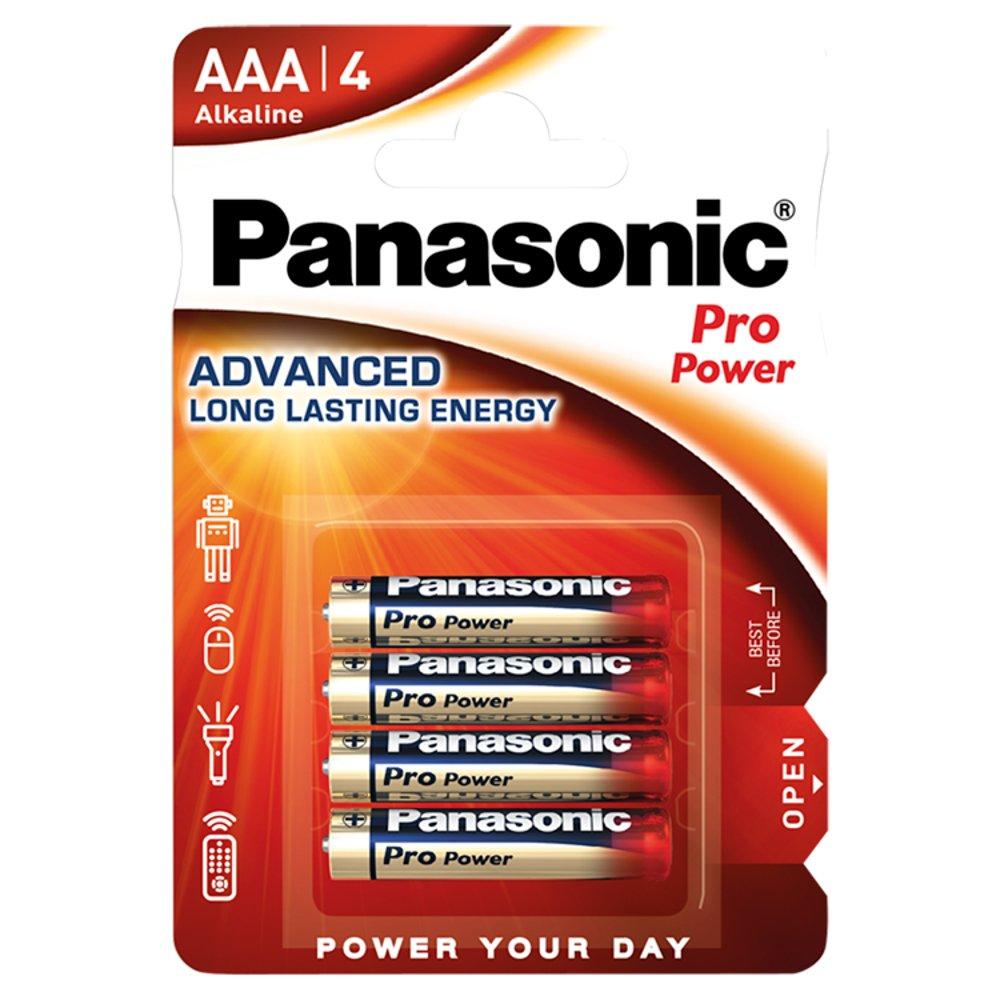 Panasonic Pro Power AAA Batteries Alkaline 4pk