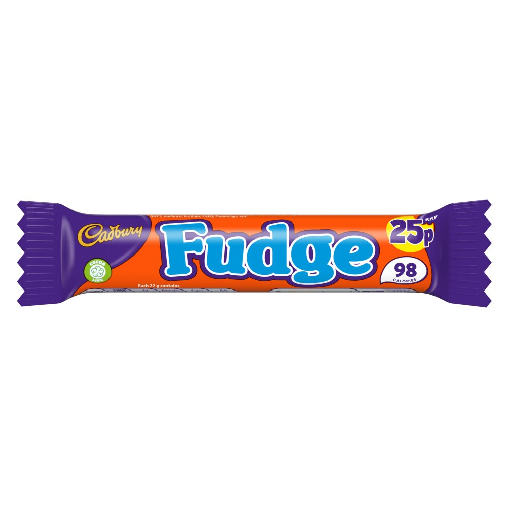 Cadbury Fudge Chocolate Bar 25p 22g