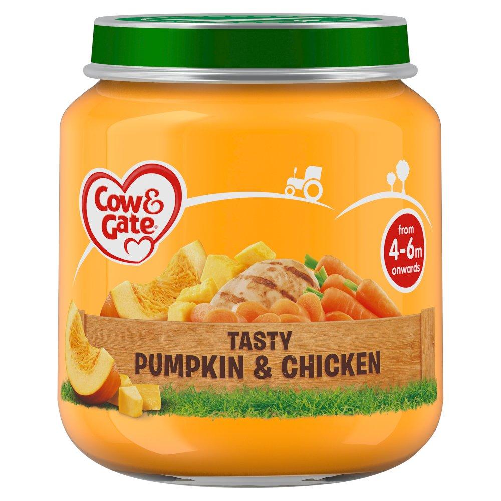 Cow & Gate Tasty Pumpkin & Chicken from 4-6m Onwards 125g