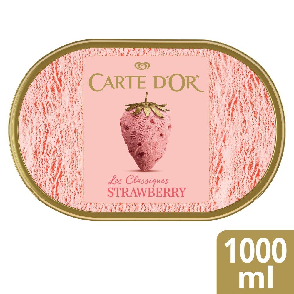 Carte D'or Strawberry Ice Cream Tub 1000 ml
