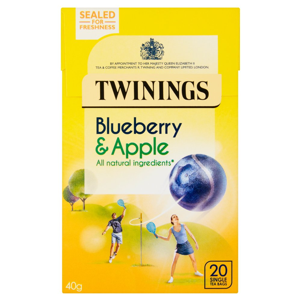 Twinings Blueberry & Apple 20 Single Tea Bags 40g