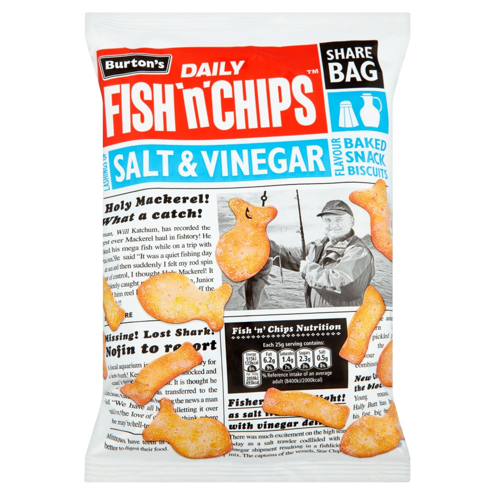Burtons Fish & Chips Salt & Vinegar Share Bag