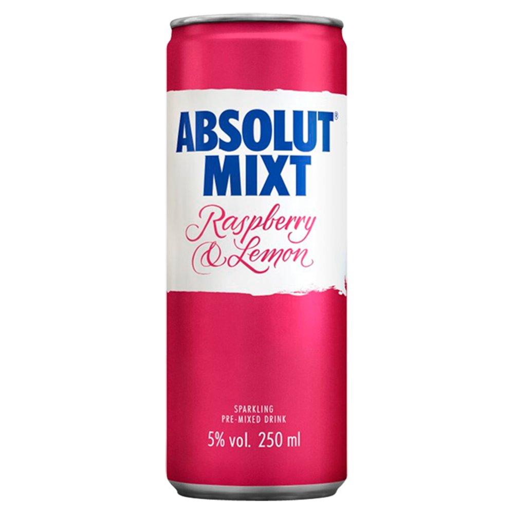 Absolut Mixt Raspberry & Lemon Mixed Vodka Drink 250ml