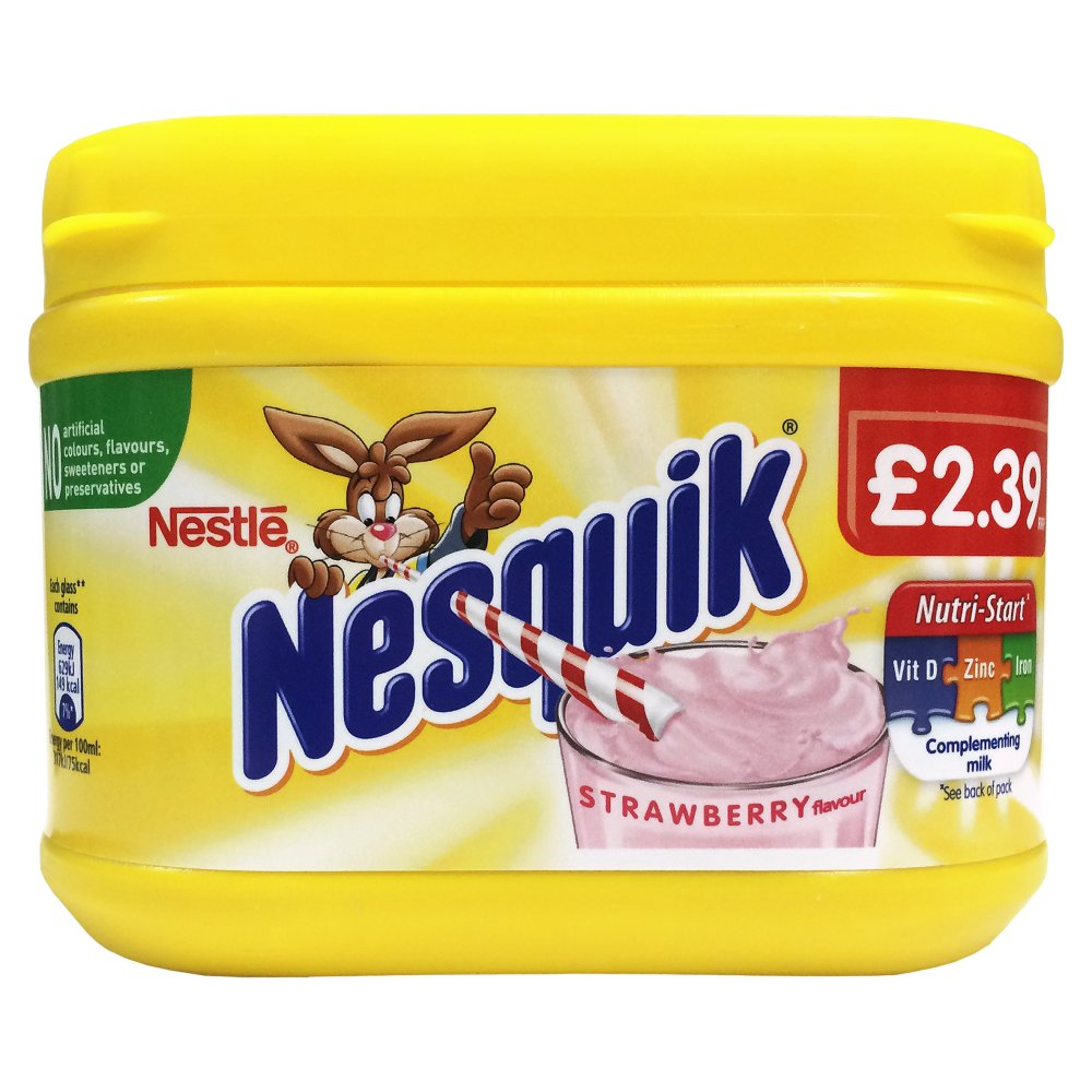 Nesquik Strawberry Milkshake Mix 300g PM£2.39