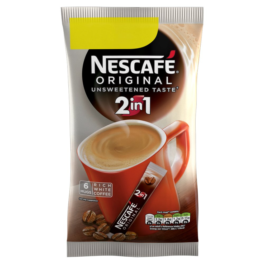 NESCAFÉ Original 2in1 Instant Coffee, 6 Sachets x 10g