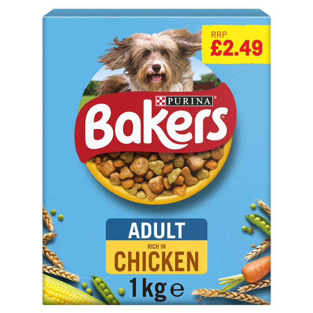 BAKERS ADULT Chicken with Vegetables Dry Dog Food 1kg PMP