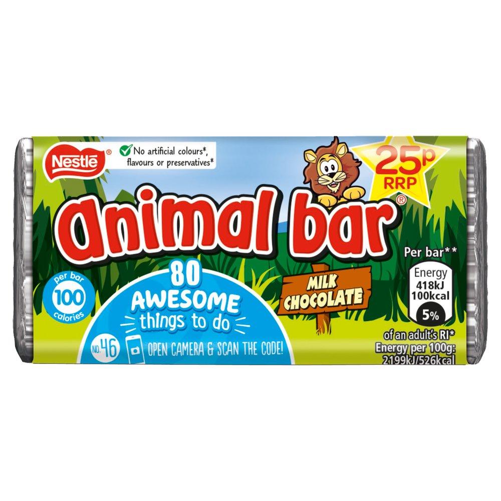 Animal Bar Milk Chocolate Bar 19g 25p