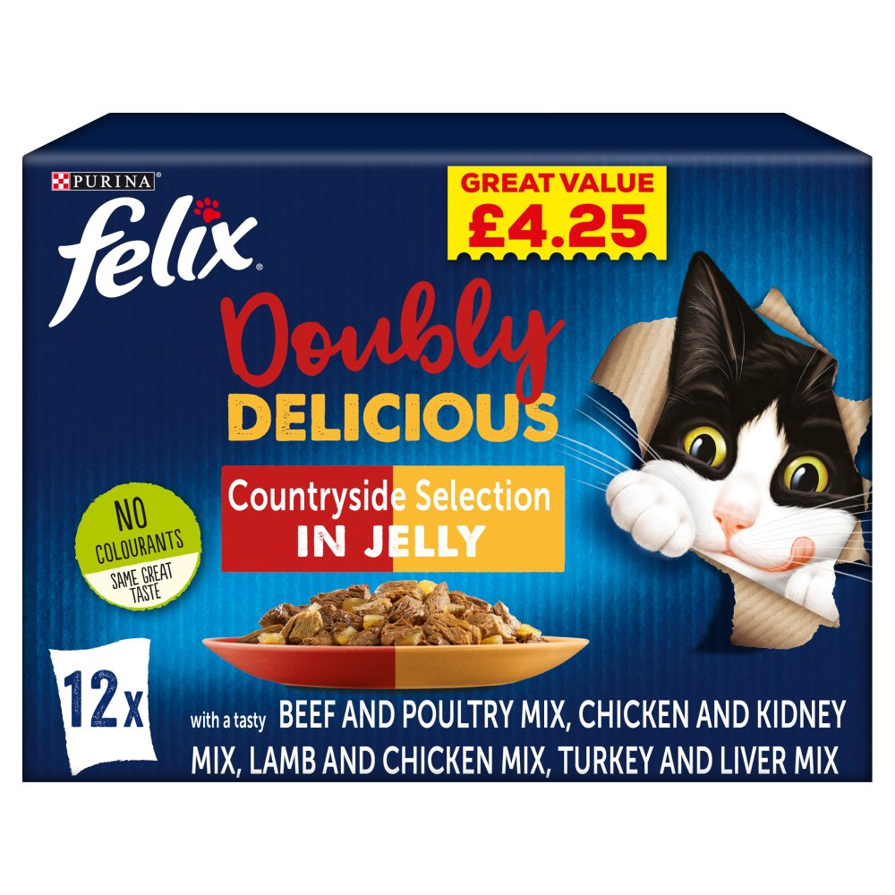 FELIX AS GOOD AS IT LOOKS DOUBLY DELICIOUS Meat Selection in Jelly 12x100g PMP