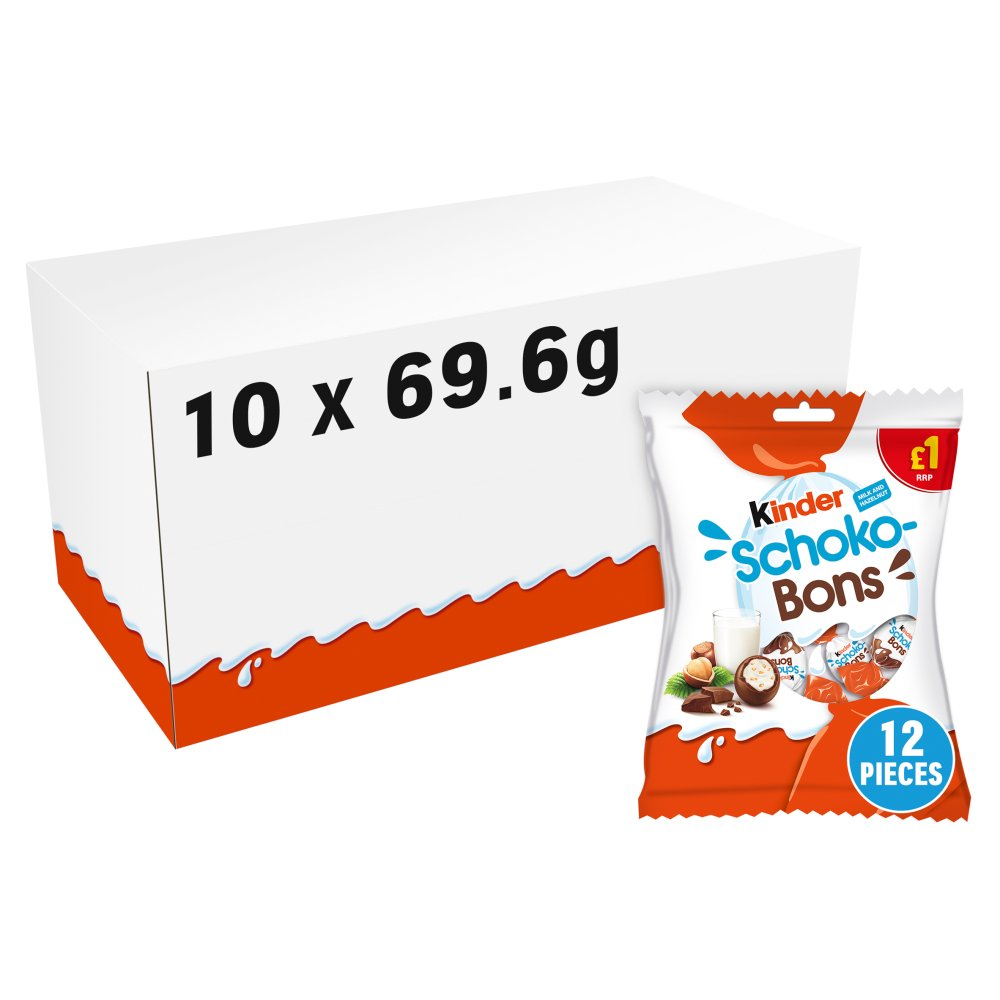 Kinder Schoko-Bons Milk and Hazelnut 69.6g PMP