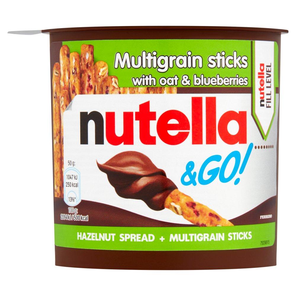 NUTELLA® & Go! Hazelnut Spread with Cocoa + Multigrain Sticks 50g Single