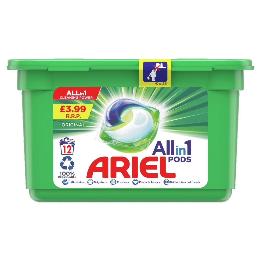 Ariel All-in-1 Pods Washing Liquid Capsules Original 12 Washes