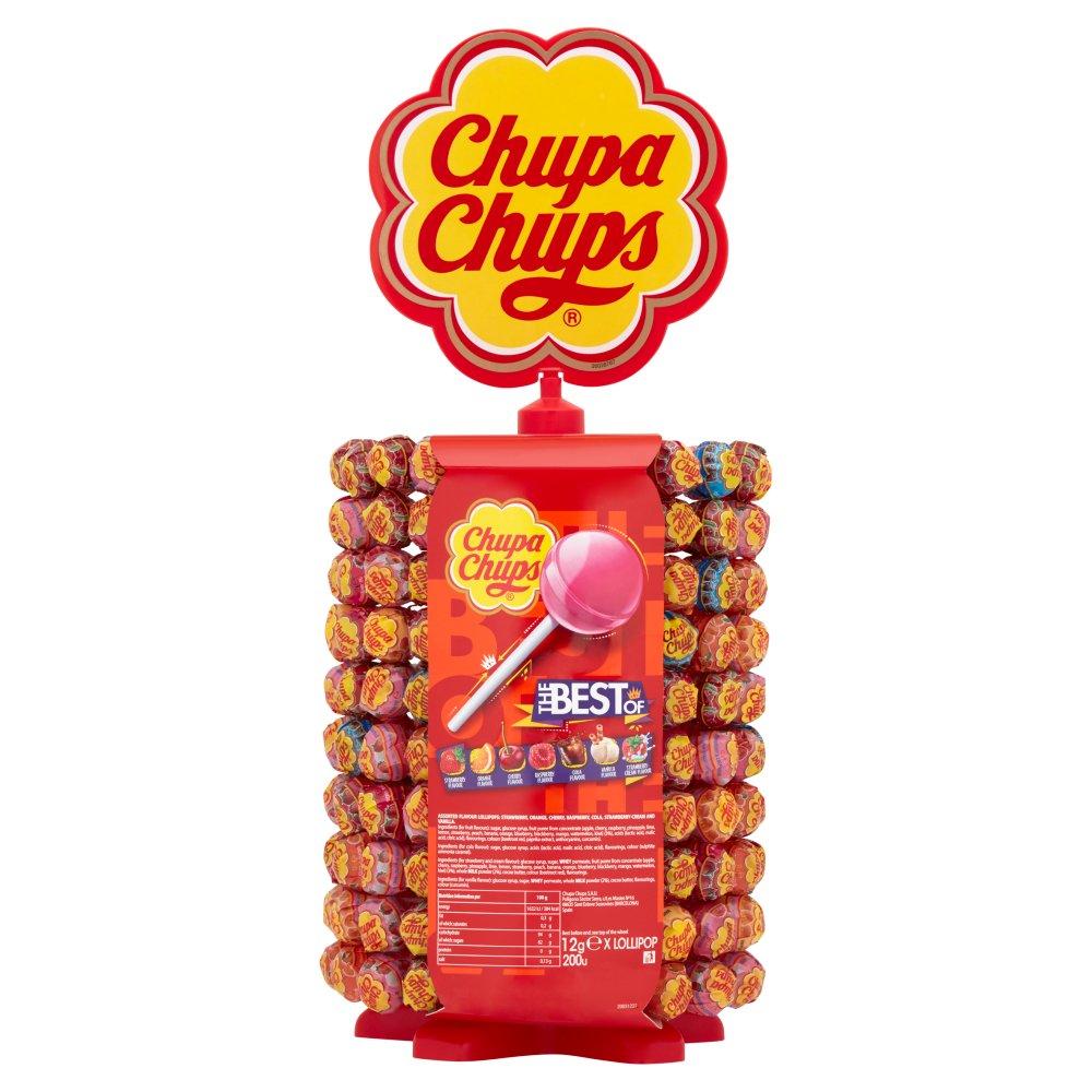 Chupa Chups Wheel Best of Lollipops 200 x 12g