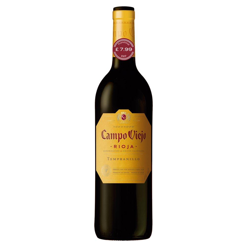 Campo Viejo Rioja Tempranillo Red Wine 75cl PMP £7.99